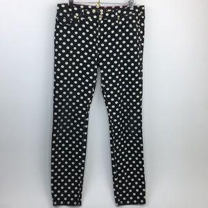 Kate Spade | Polka Dot Skinny Jeans Black White 28